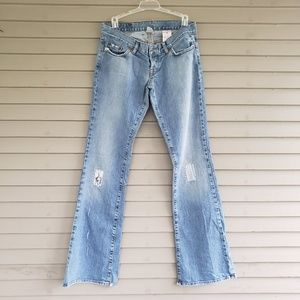 Vintage Lucky Brand Patch Lil Maggie Flare Jeans